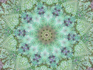 Free screensaver preview. Lilac and Lime Lace screensaver and Fractal Wonderland desktop theme. This free screensaver was originally called fractal wonderland but the screen saver images did not have same effect as the theme image. The name changed to lilac and lime lace do to the fact that the screensaver images have a lacey look. This free screensaver is over eight minutes long which is one of the reasons why it has two different songs for the background music. The songs were actually selected by two fans of my free screensavers instead of my own music selections.